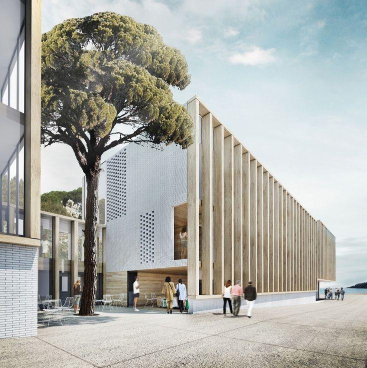 hotel en la costa brava . Girona    BAAS arquitectura    Tres volúmenes ligeros en un paisaje único.  Una parcela estrecha y alargada en pri...