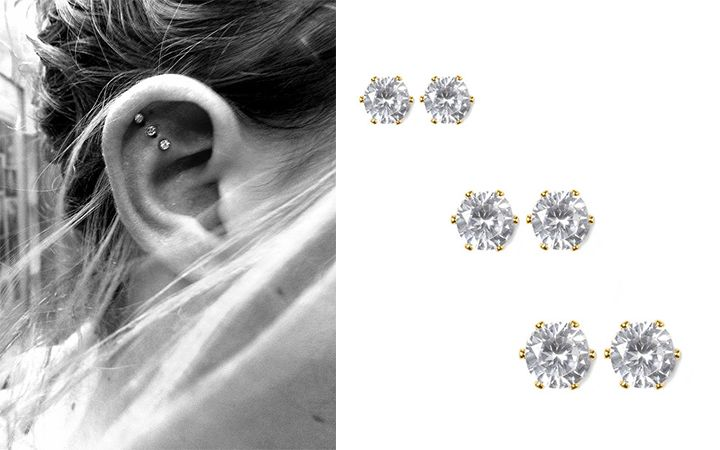 For Ears   3 Chic Piercings You Can Rock For Every Season #diamondstuds