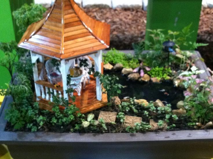 Gazebo in mini garden