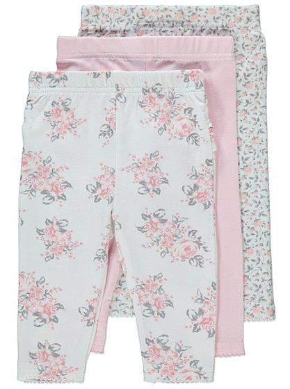 3 Pack Assorted Leggings, read reviews and buy online at George. Shop from our latest range in Baby. Make sure your little one is kept cute and comfy all day...