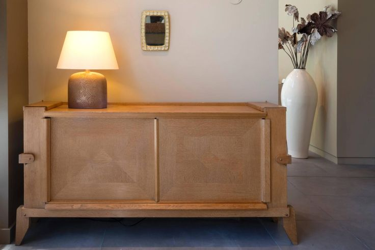 Guillerme et Chambron Oak Sideboard, Credenza, Buffet Mid Century 1950 France | From a unique collection of antique and modern buffets at https://www.1stdibs.com/furniture/storage-case-pieces/buffets/