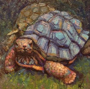 Tortoise painting by Alexandra Kruglyak