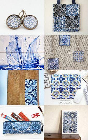 Tiles lovers / Amantes de azulejos by Bárbara Gemelgo on Etsy