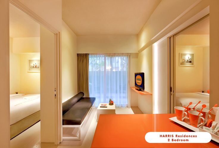 HARRIS Sunset Road 2 Bedroom with Orange Color, so refreshing !