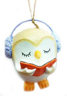 Bookworm Owl Ornament