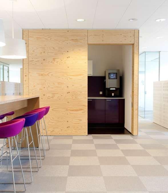 Bolon flooring in the office of Singelveste in Breda, Netherlands
