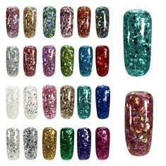 24 Colors Shining Diamond Extend UV Gel Extension Nail Art Glue Manicure