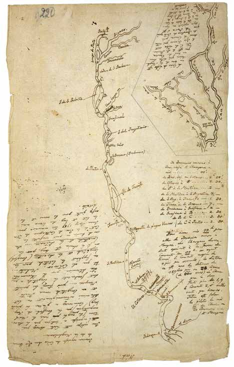 von Humboldt, Three of the nine american diaries, 1799-1804 Sketch of the Orinoco region. Sketch of the Rio Grande de la Magdalena. Topographic sketch of the volcano Pichincha. Drawings: Staatsbibliothek Berlin Source: the art magazine, Kulturstiftung der Länder.