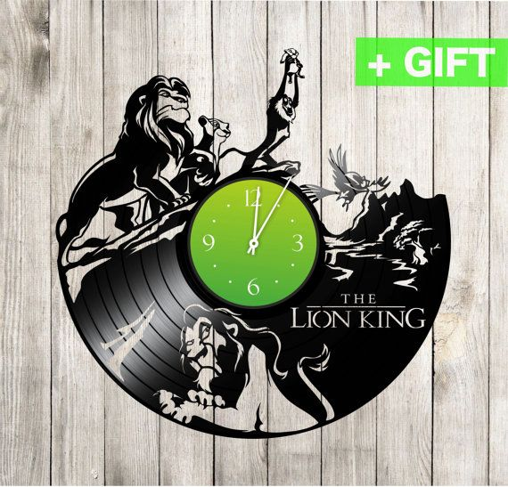 """Lion King gifts wall clock """"Lion King 4"""". Lion King decor Lion King nursery Lion King Hakuna Lion King sticker on the clock Lion King kids"""