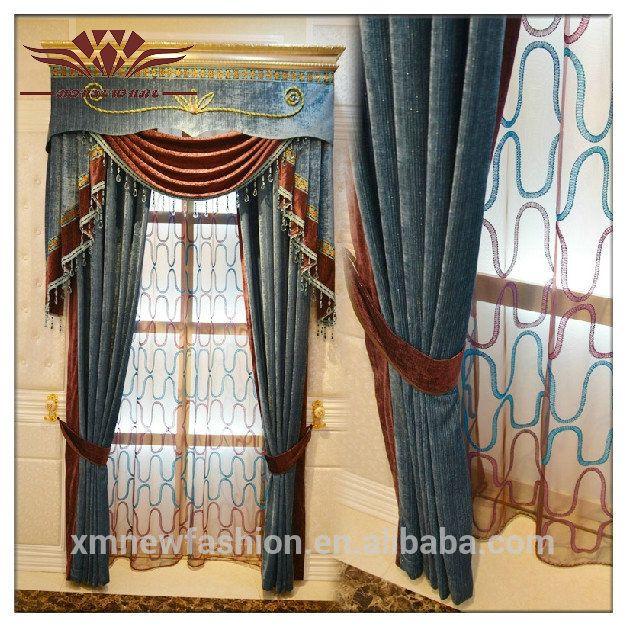 Cortina artesanal para a porta, cortina de fantasia valências, técnica de bordado jacquard cortinas com valência-imagem-Cortinas-ID do produto:900003696957-portuguese.alibaba.com
