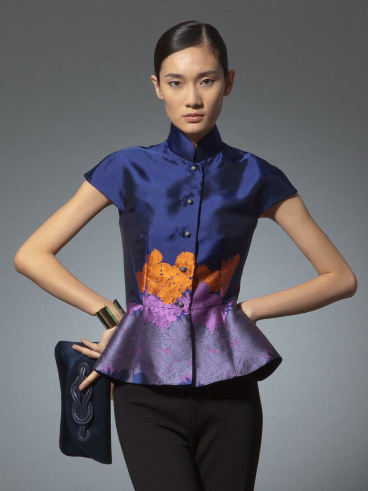 Exotic shadows jacquard jacket Shanghai Tang Spring/Summer 2014