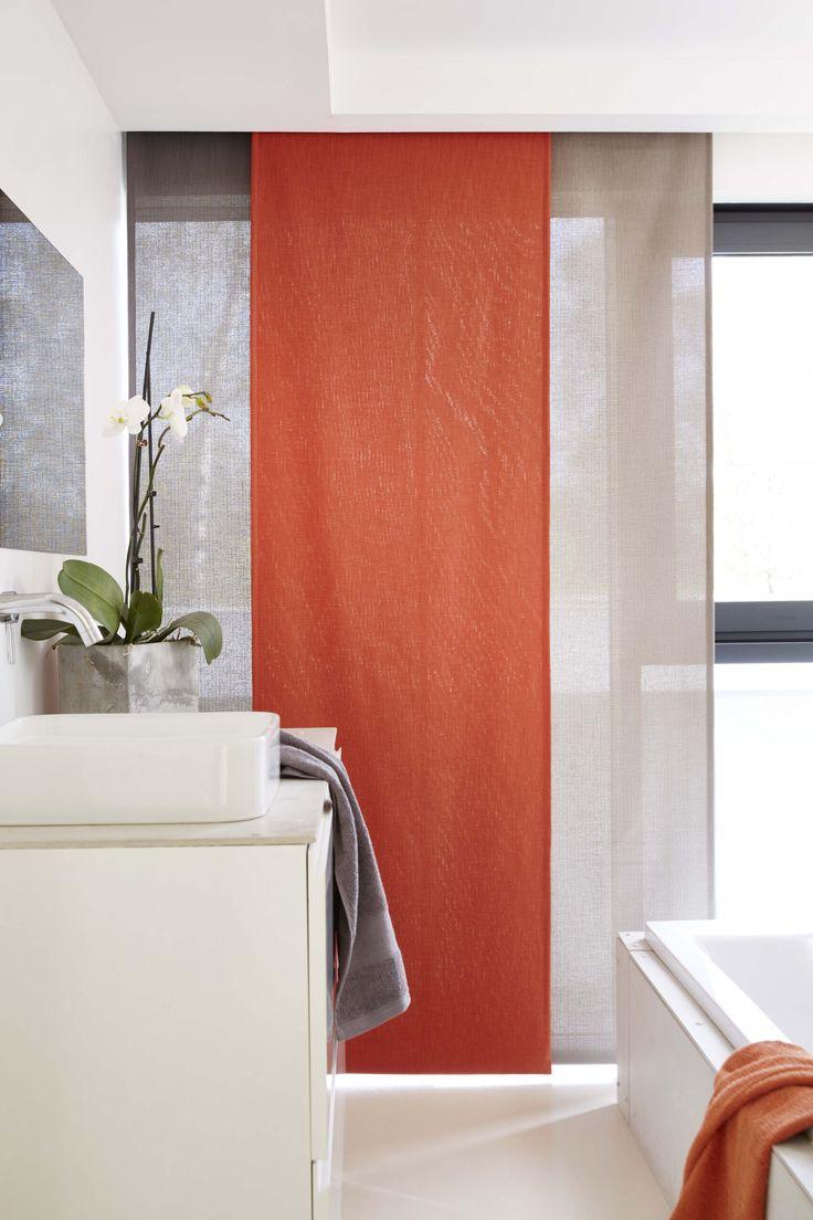 <strong>Chinette Orange - Panneaux japonais textiles</strong>                                                                                                                                                                                 Plus
