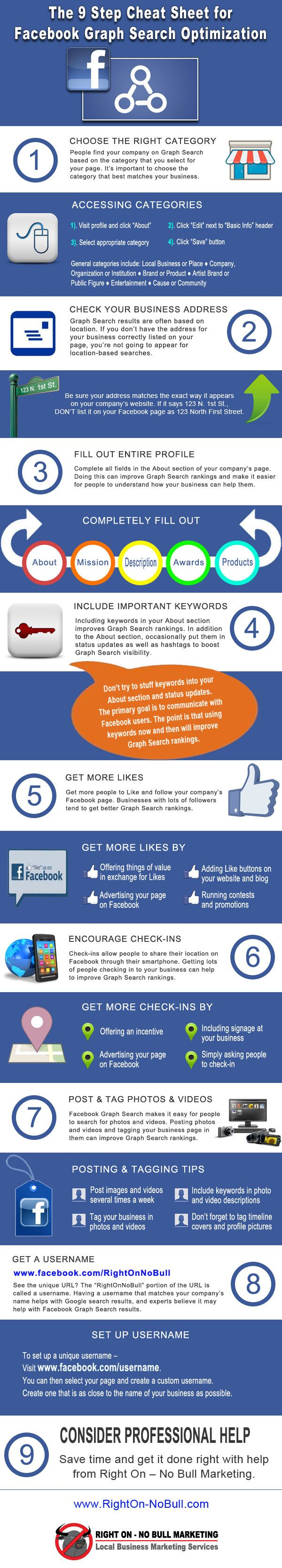 9 Steps To Facebook Graph Search Optimization #infographic