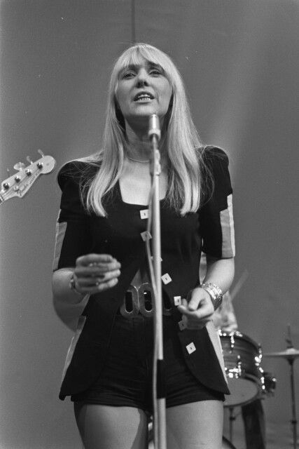 Sally Carr of Glasgow band Middle of The Road. 1971 single 'Chirpy Chirpy Cheep Cheep' sold over 10 million copies.