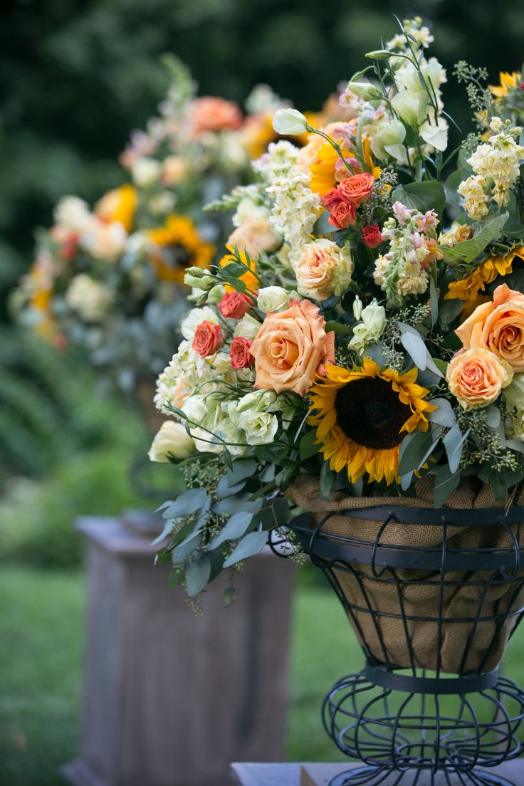 Rustic Yellow and Orange Summer Wedding