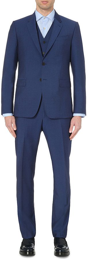 PAUL SMITH LONDON Byard wool and mohair-blend 3-piece suit