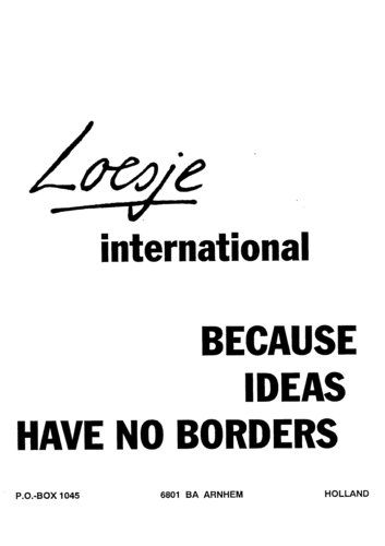Loesje International / because ideas have no borders  - Loesje #Loesje  #quote #poster #streetart #art #poetry #writing #words #creative #international #poem #lyric #photography #freedom #Loesjeinternational