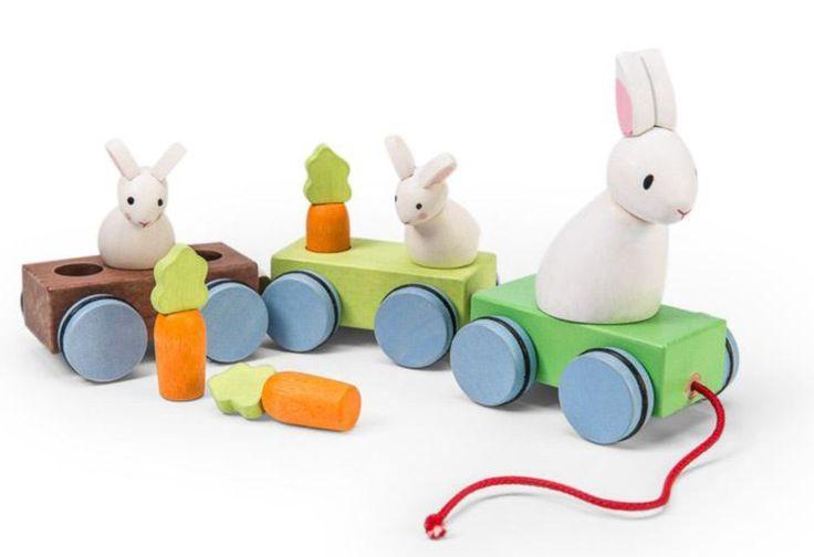 Le Toy Van - Petilou Wooden Pullalong Bunny Train
