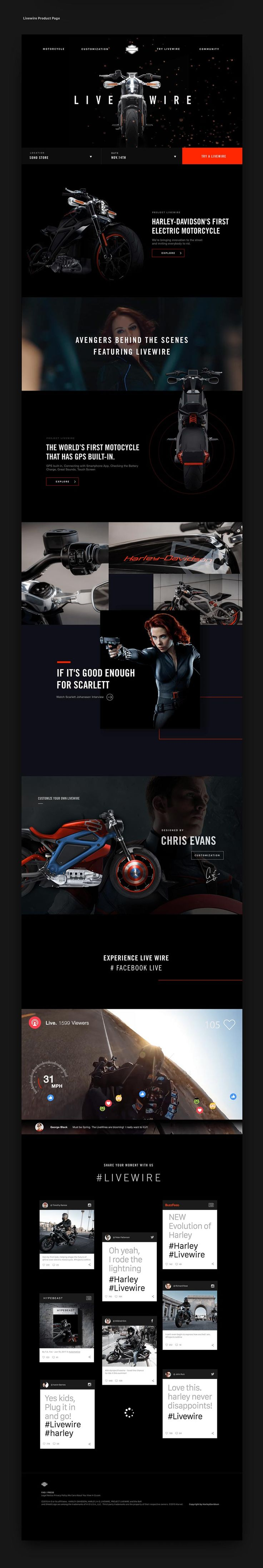 Harley Davidson Motorcycle Website - Behance #ui #ux #userexperience #website #webdesign #design