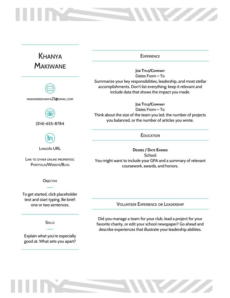 Templates For Resumes Google Docs in 2020 Resume