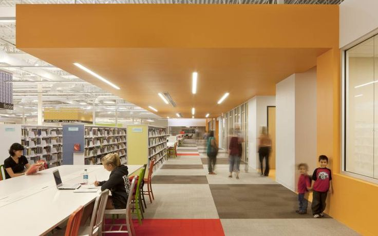 Once a Wal Mart, now the largest single story library in the U.S. What a way to re-purpose a big box store!
