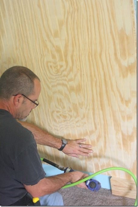 We use a product called Ply Bead, which we can always find at Home Depot or Lowe's in the same aisle with the plywood & MDF. It varies a lit...