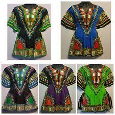 Kadın Afrika Dashiki Print Panço Üst Gömlek Elastik Bel Kısa Elbise Bir Boyut