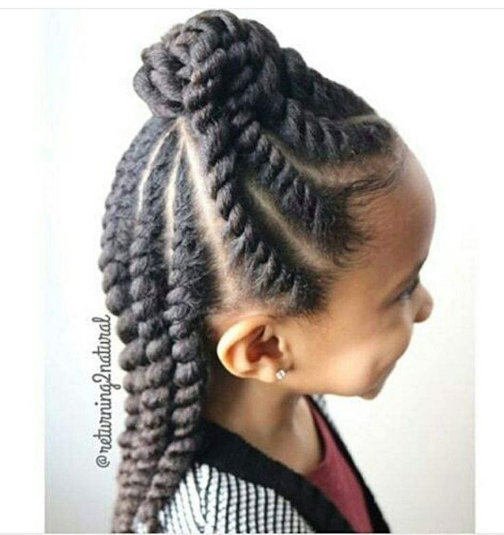Cute natural updo and protective style for a kid or adult!