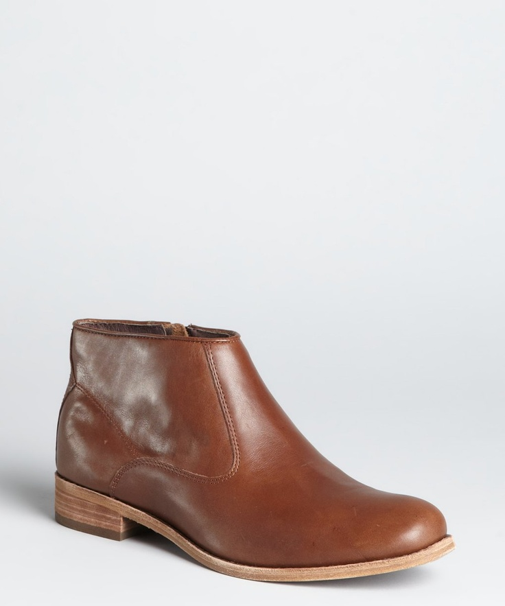Dolce Vita brown leather 'Elleta' ankle booty