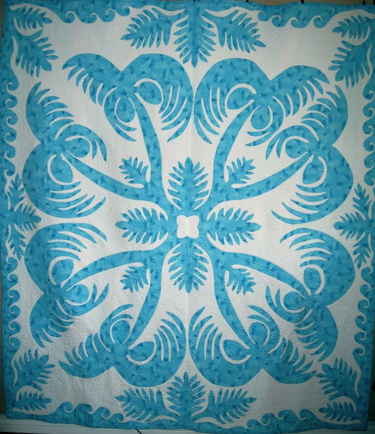 appliqued mahon an hawaiian the top pattern in mango not quilted annette quilt yet quilting