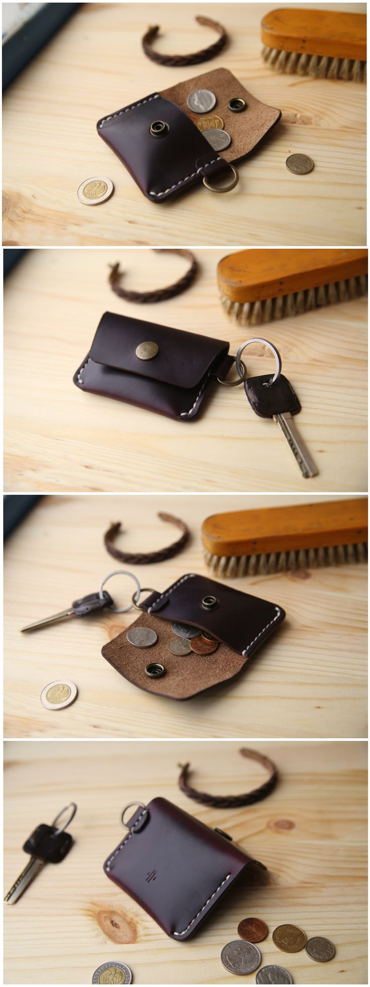 Horween Chromexcel #8 Coin Purse.  #manufacturabrand#accessories #wallet #leather #handmade#leathergoods #everydaycary #handcraft #handstitched #leathercraft #horween #horweenwallet #coinpurse #coinwallet #coinpouch #keychain #leatherkeychain
