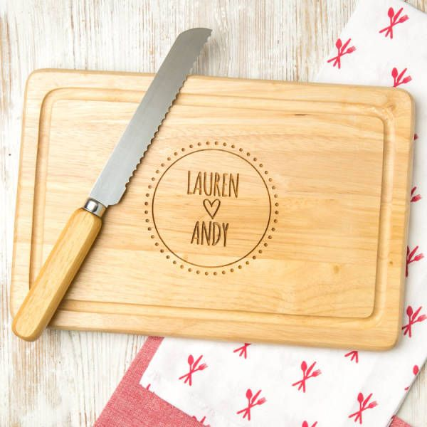 Personalised Couple's Engraved Chopping Board