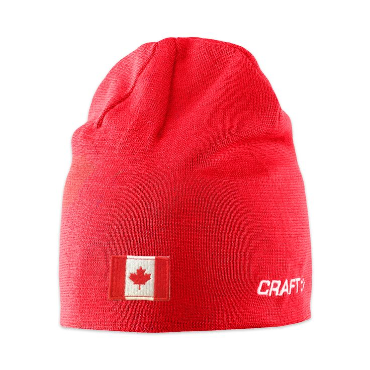 Craft Race Hat with Flag - $29.99 CDN The Craft Race Hat with Flag is in Canadian red with the Canadian Flag proudly displayed. It keep your head warm and is perfect for any winter events.