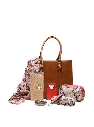 61% OFF Emilie M. Women's Morgan Tote + Essentials Box, Cognac