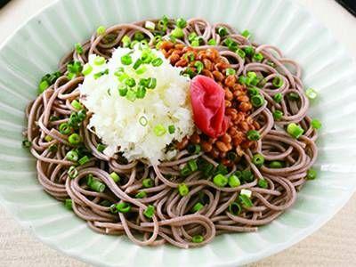 ぶっかけおろし梅そば レシピ 小田 真規子さん|【みんなのきょうの料理】おいしいレシピや献立を探そう