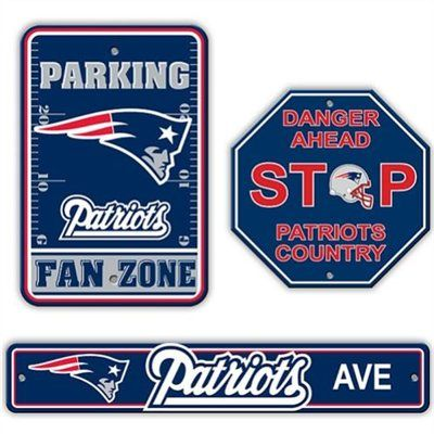 Fremont Die New England Patriots 3-Piece Sign Kit