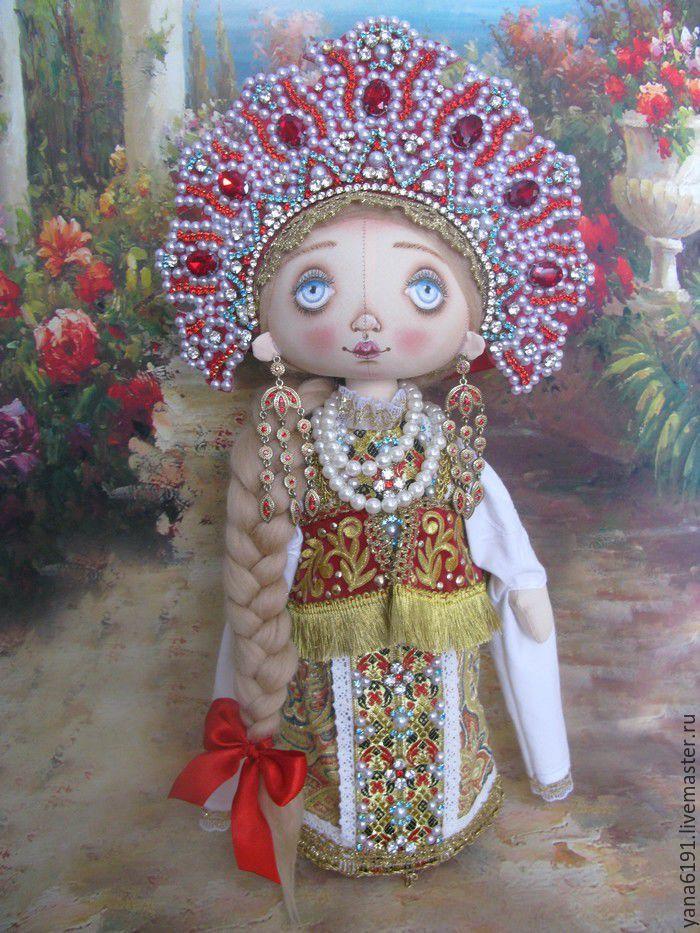 """Купить Кукла в русском костюме """"Василиса"""". - ярко-красный, кукла ручной работы, кукла в подарок"""