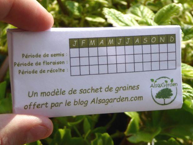 sachet de graines: Pour vos futures récoltes de graines, Alsagarden vous simplifie la vie avec un modèle de sachet de semences vierge à imprimer !