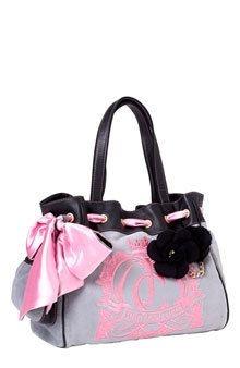 Juicy Couture Cute Handbag In Black And Grey