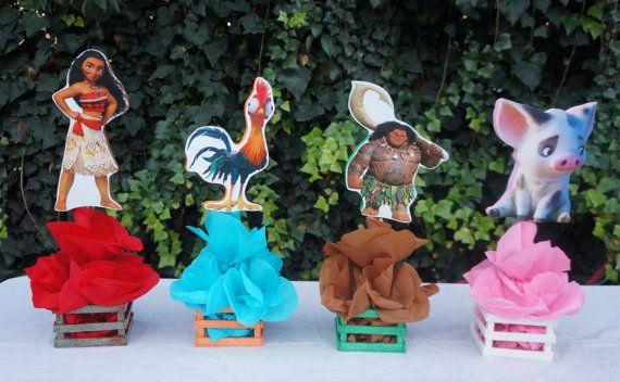 Disney inspirado Moana cumpleaños fiesta decoraciones mesa