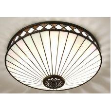 Fargo 2-Lamp Flush Tiffany Light Art Deco Style