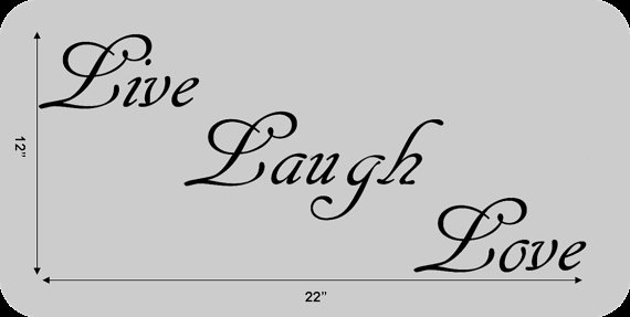 Vinyl Wall Decal Live Laugh Love Wall Decor by decalCOmania100, $18.95