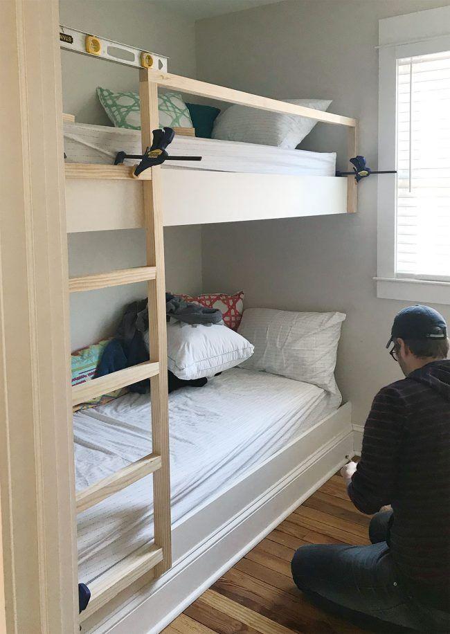 How To Make Diy Built In Bunk Beds Diy Bunk Bed Bunk Beds Bunk