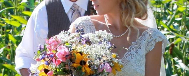 Bridal bouquets with farm flowers. www.PrairieGardens.org
