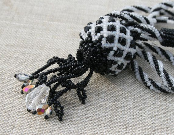 ball necklace black white necklace black white pendant seed