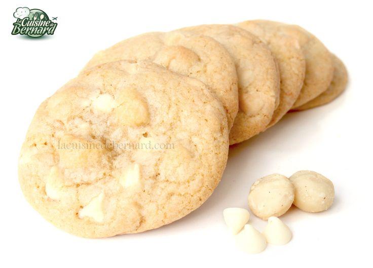 La Cuisine de Bernard : Les Cookies Au Chocolat Blanc J'adore tellement ça ! C'est facile à faire, on peut en avoir de toutes les textures possibles et avec plein de choses différentes à mettre dedans.
