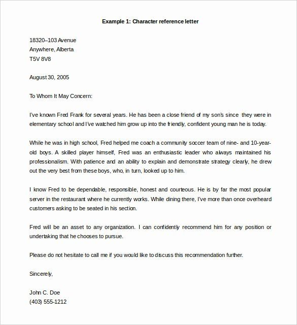 Professional Reference Letter Template Word Lovely 42 Reference