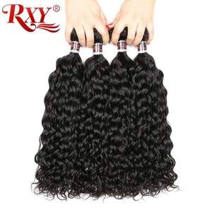 """Malaysian Curly Hair Water Wave Bundles Human Hair Double Weft Remy Human Hair Extensions 10""""-28"""" Can Be Dyed & Bleached"""