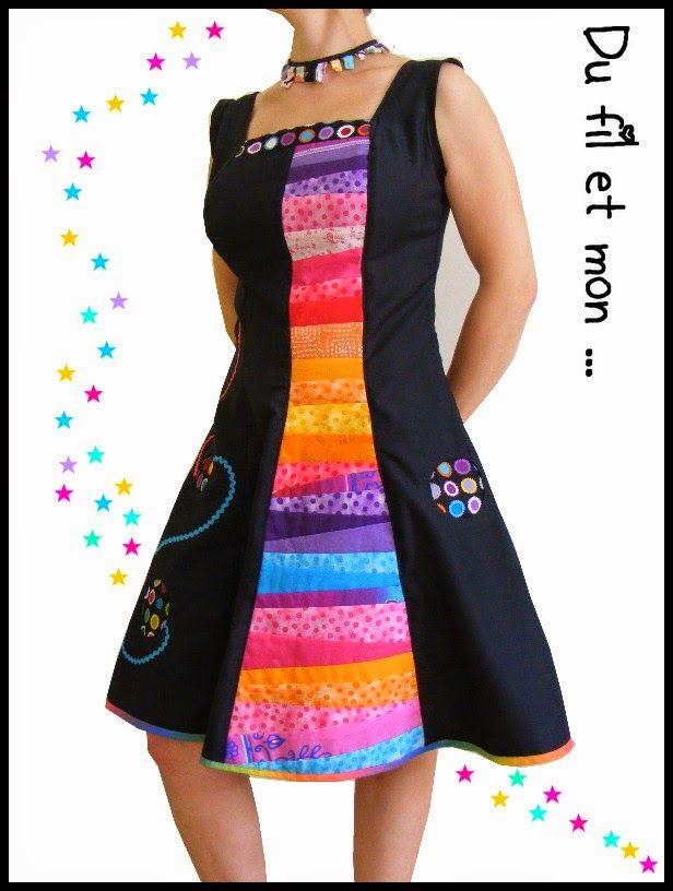 Du fil et mon...Première robe...colorée!