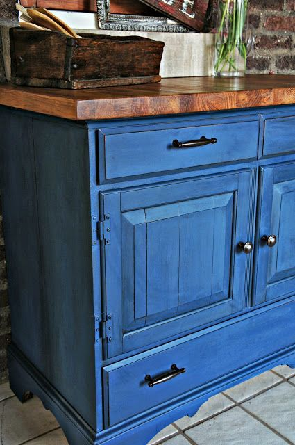 Buffet Finished In Napoleonic Blue Chalk PaintR Decorative Paint By Annie Sloan